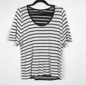 Aritzia Wilfred Free Wide Stripe Short Sleeve Top